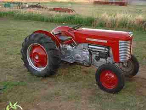 Tractor Restoration Parts : Massey ferguson mf tractor parts manual for service