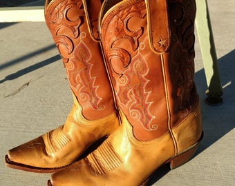 cowboy boots, Tony Lama boots, leather boots, southwestern boots