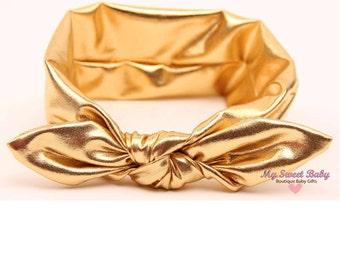 Newborn Headbands - Baby Headband - Pink Gold Headband - Baby Hairbow - Infant Headband - Toddler Headband - headband baby - Baby bows