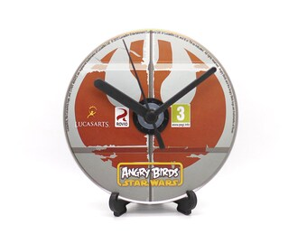 Angry Birds Star Wars PC Upcycled CD Disc Clock Video Game Gift Idea