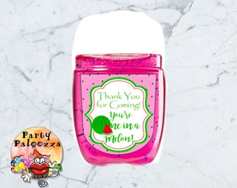 Printable Birthday Watermelon Hand sanitizer label