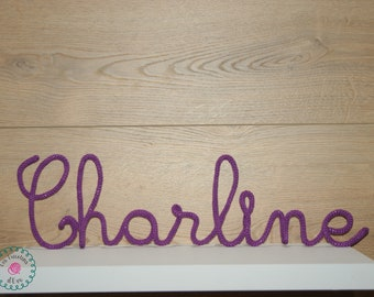 First name knitting or Word of your choice to hang or place. Knitting gift