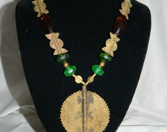 African Shield Necklace