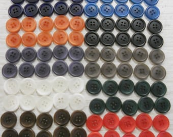 BUTTONS BULK 100 ten colors seamsters alterations kid's crafts schools free ship