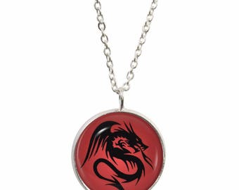 a pendant womens s necklace ff red cc artistic steeldragonjewelry dragon w women eye collections