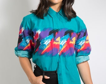 80s Vintage Teal Dixie Cup Button Down - ROPER