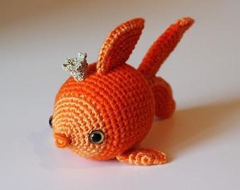 Crochet Fish Pattern   Crochet Animal Shower Gift   Kawaii Goldfish Crochet Pattern   Amigurumi Princess   Funny Kids Crochet   Softie Toy