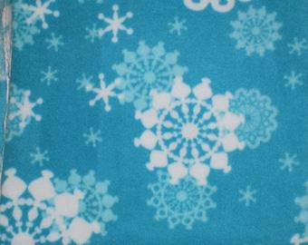 Dog Jammies Aqua Blue with White Snowflake fleece