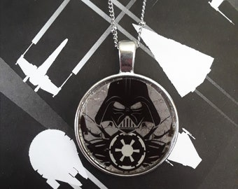 "1"" Darth Vader necklace"