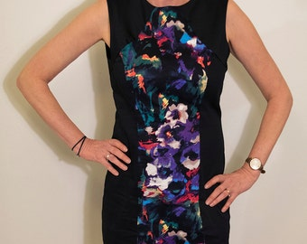 Bright Floral Panel Dress - Size 12