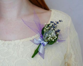 Mother's Corsage - Beautiful, Colorful Dried Lavender