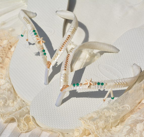 Wedding Wedding Flip Shoes Wedding Bridesmaid Boho Bridal Sandals Shoes Flops Bohoemian Flops Flip Flops Shoes Wedding Flip Swarovski OnRwdtqUw