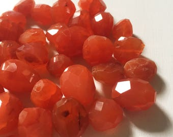 Carnelian Faceted Nugget Beads