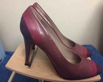 1970s garolini womans high heel shoes, size 8.5s