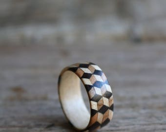 3d pattern ring