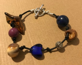 Bracelet with Recycled Beads