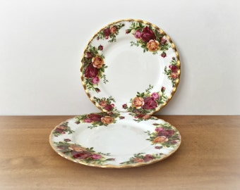 Royal Albert Old Country Roses Bread and Butter Plates Small China Plates