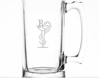 Pharmacist 25 Ounce Personalized Beer Mug