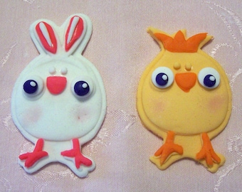 Easter Chick & Bunny Cake/Cupcake Toppers