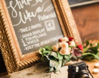 Guestbooks, Instagram, and Hashtags   A Chalkboard