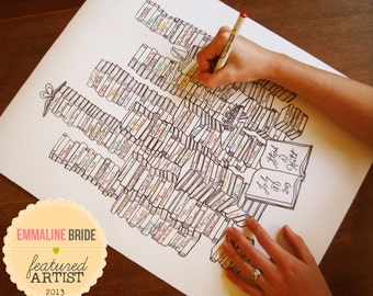 """Library Themed Wedding 