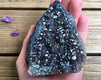 Cobalt Aura Amethyst Cluster