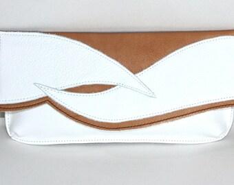 Sac en cuir pochette «Viktoria»-crème-blanc - petit sac de LoraLeahter - soirée - pochette en cuir sac à main-sac à main - cadeau pour sa pochette