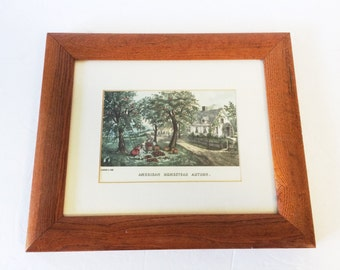 Reproduction Courier and Ives Autumn Harvest Framed Print