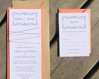 Charming Rustic Wedding Invitation