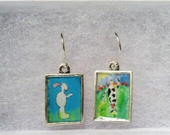Earrings: your child's art/photo