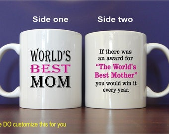 Mothers Day Mug Gift - Mother's Day Gift for Mom from Daughter - Son -Kids,  MMA003