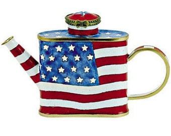 Mini Kelvin Chen Teapot- American Flag