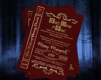 Digital Once Upon A Time Storybook Invitation Printable File