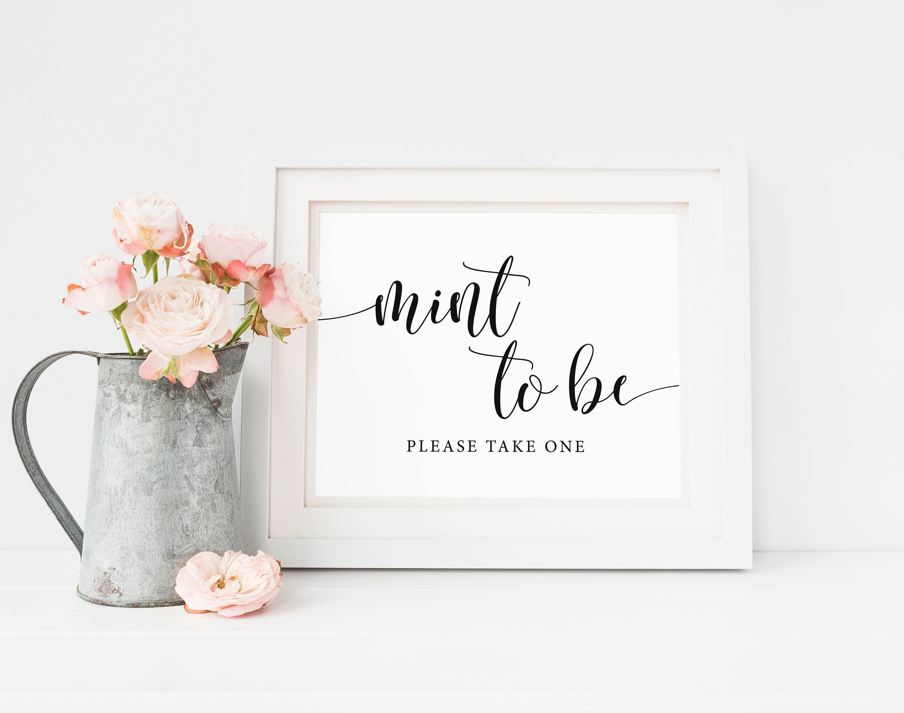 Mint To Be Sign Mints Wedding Favor Sign Mint To Be Bridal