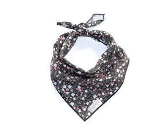 The Gypsy Rose Bandana | Flower Bandana | Classic-Tie Dog Bandana | Square | Pet | Dog Bandana
