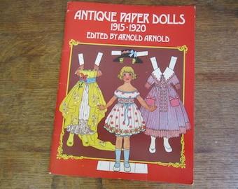 Antique Paper Dolls 1915-1920, Dover Reprint, 1975. UNCUT Paper Dolls.