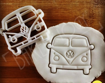 VW Camper Van Inspired Cookie Cutter | Biscuit cutter | Vintage Classic Kombi Van, Microbus, Transporter, bus Type 2, one of a kind ooak