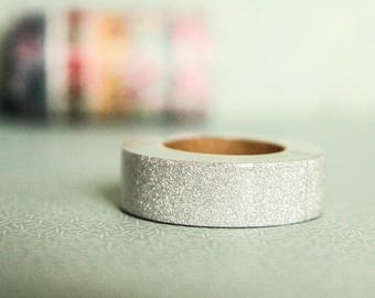 Masking tape silver 15mm x 10m 1 roll,silver tape,glitter tape,wedding tape,xmastape