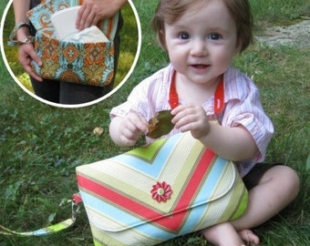 Grab 'n' Go Diaper Clutch Sewing Pattern, PDF download