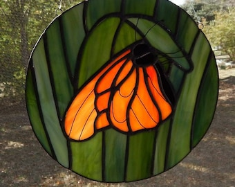 Monarch Butterfly Stained Glass Sun Catcher