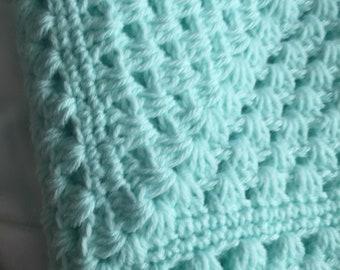 Solid Teal baby blanket