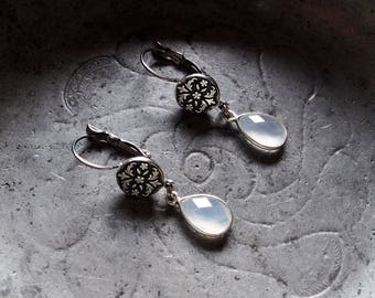 small earrings chalcedony earrings