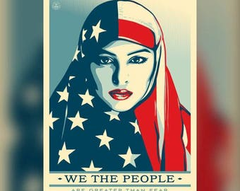 WE THE PEOPLE public protest poster (Are Greater Than Fear)poster HDPrint on fine Paper.