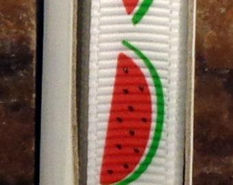 "2 Yards 3/8"" Summer Watermelon Fruit Print Grosgrain Ribbon - US Designer"