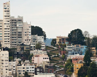 Fine Art Photograph, Lombard Street, San Francisco Photo, California Art, Landscape, Cityscape, Home Decor, Twists, West Coast, Lombard Art