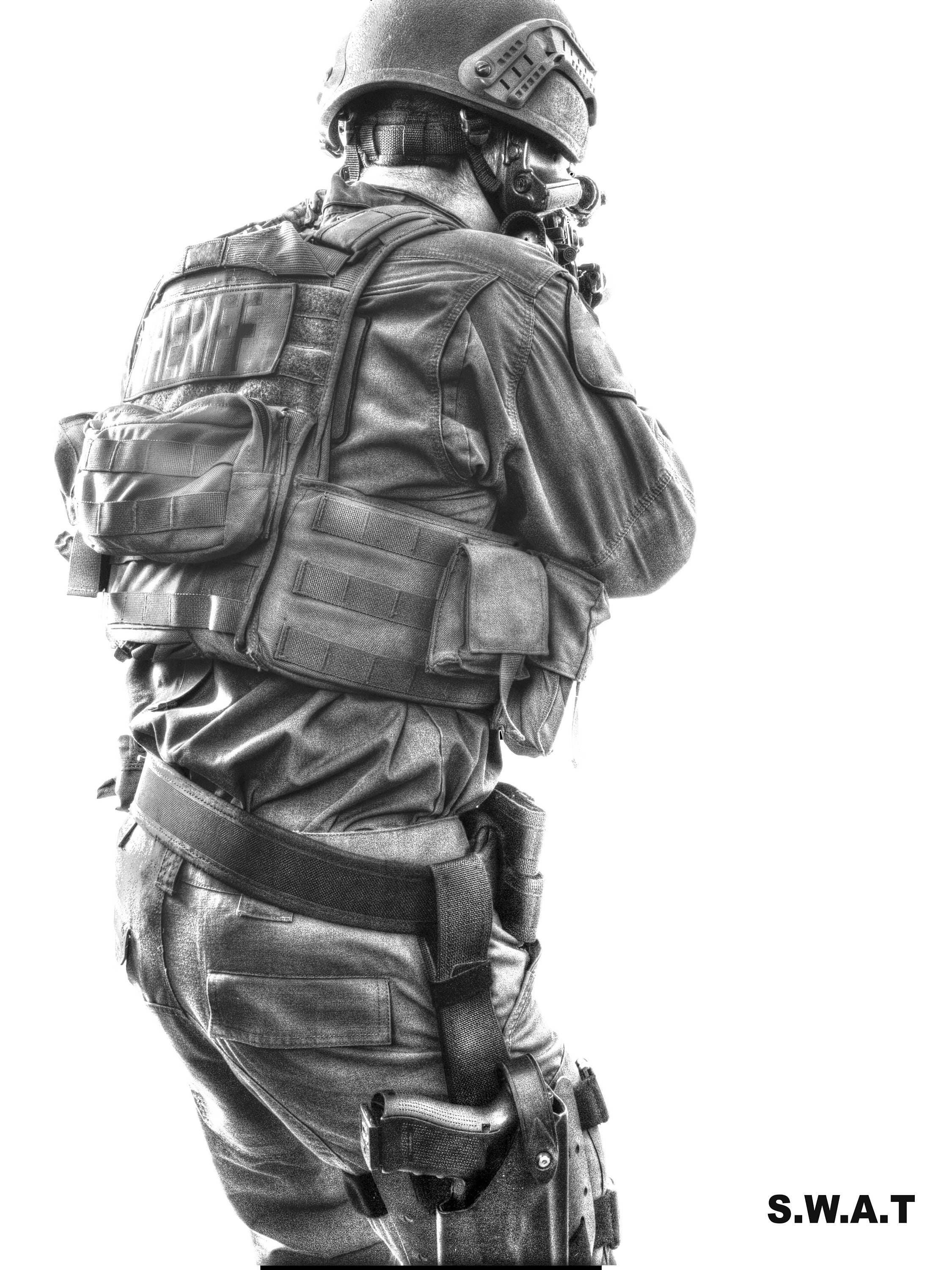 SWAT black & white SWAT Poster police gifts Wall art Law
