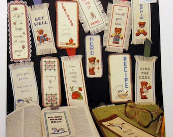 """Counted Cross stitch book Dale Burdett """"Bookmarkers"""" Teddy Bears 1984"""