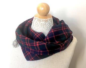 Scottish Tartan Scarf - Red Plaid Scarf - Tartan Scarves Winter - Womens Scarf - Mens Scarf - Womens Scarves - Mens Scarves Scotland