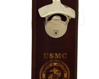 Bottle Opener USMC Magnetic  ~ Beer Opener ~