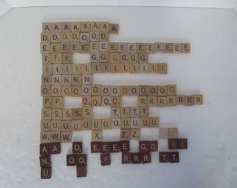 Wood Scrabble Tiles, 135 Tiles, Regular and Special Edition